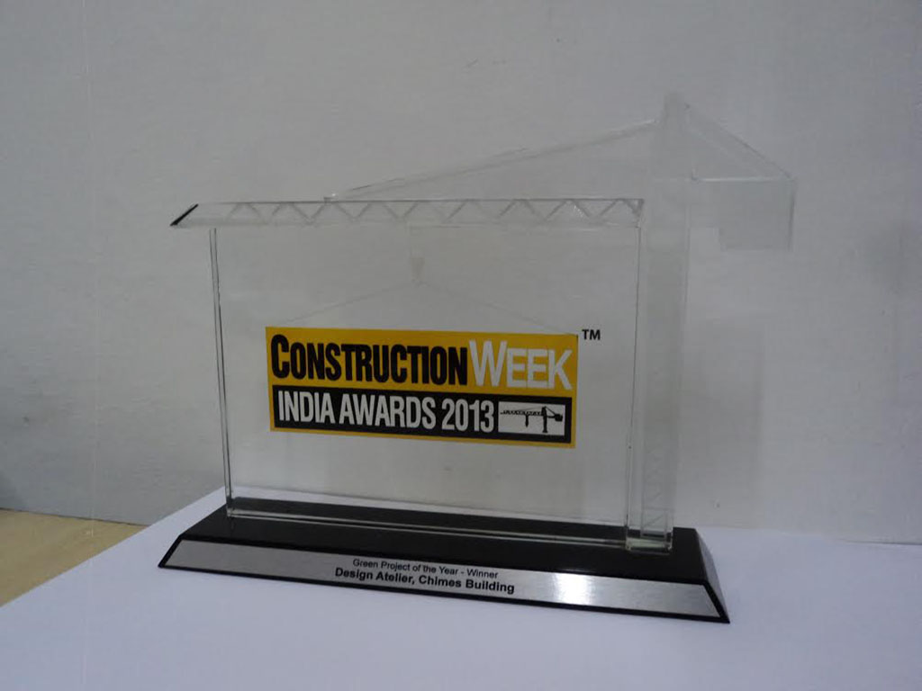 Trophy- Construction Week India Awards 2013